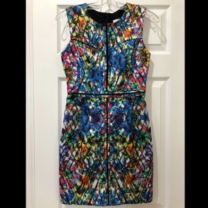 Milly abstract sheath dress